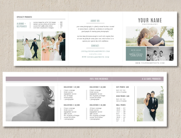 Pricing Guide Template Trifold - Venice