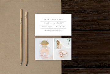 Portrait Photographer Business Card Template