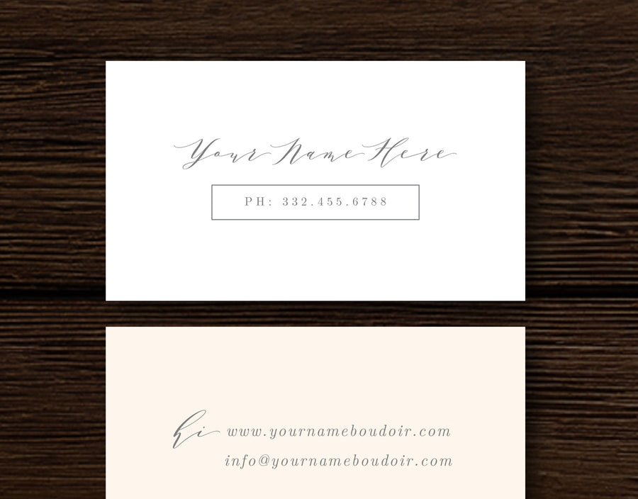 Calligraphy Style Business Card Template - Aspen