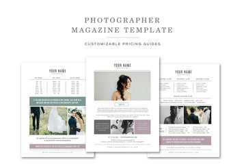 Photography Pricing Template Set - Venice