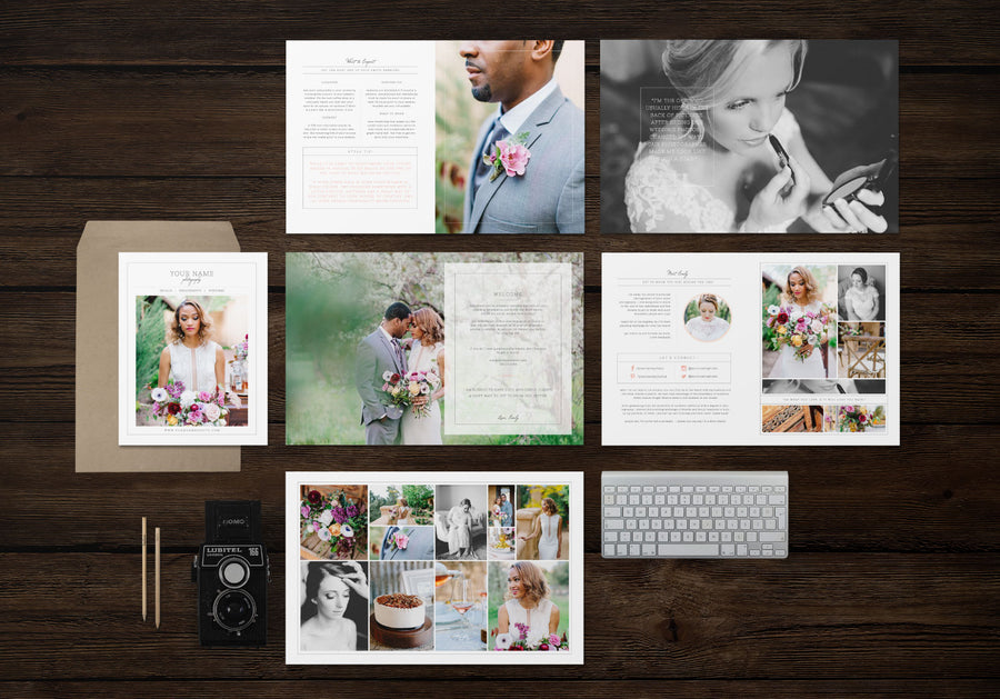 Magazine Template for Wedding Photographers - Cambria