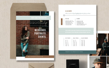 Portrait Photographer Pricing Guide Template Set - Elm