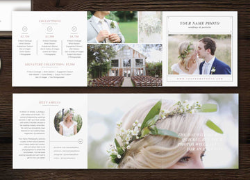 Photographer Pricing Guide Trifold - Laurel