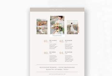 Wedding Photography Pricing Template - Marfa