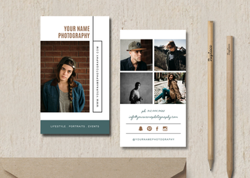 Photography Business Card Template - Elm