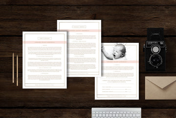 Newborn Photography Contract Template - Lily