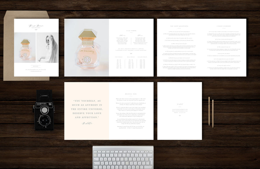 Boudoir Photographer Marketing Welcome Kit and Magazine Template Guide- Aspen