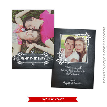 Holiday Photocard Template | Chalkboard Love