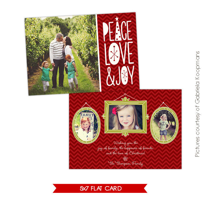 Holiday Photocard Template | Jolly portraits