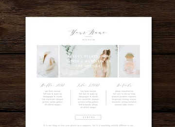 Boudoir Photographer Pricing Guide Template - Aspen
