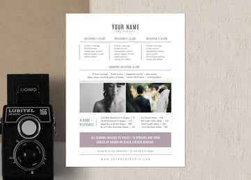 Photography Investment Template - Venice