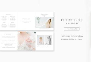 Photography Pricing Guide Trifold - Aspen