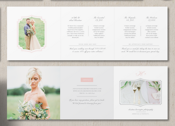 Wedding Photographer Pricing Guide Trifold Template – Eucalyptus