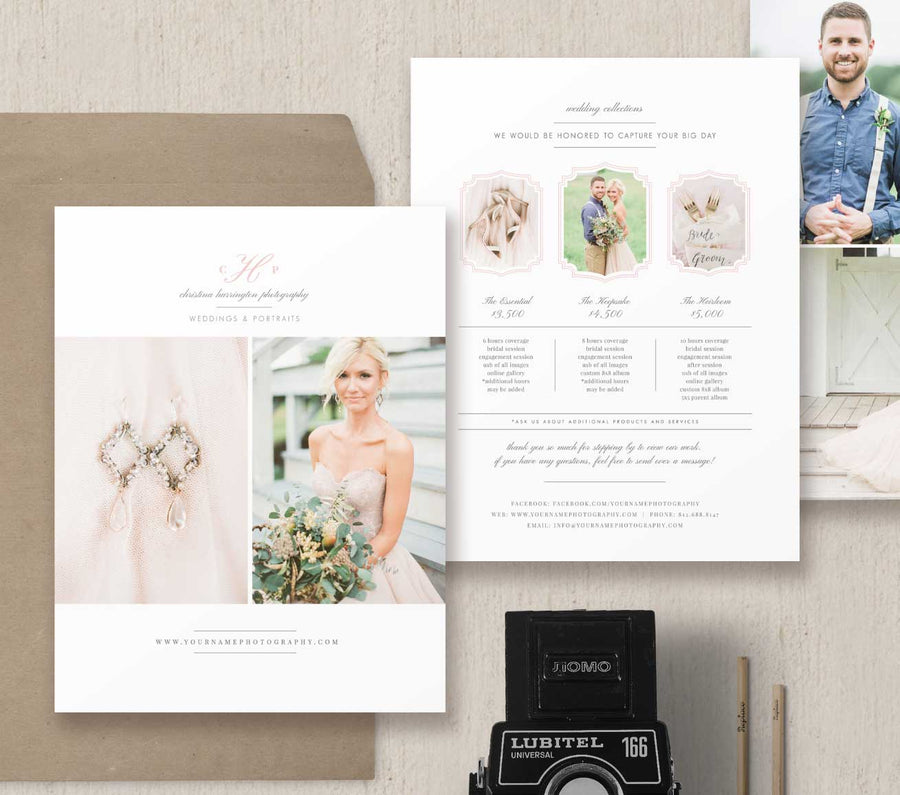 Photography Pricing Guide Template Set - Eucalyptus