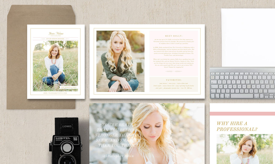 Senior Photographer Welcome Packet & Magazine Guide - Senior Photographer Branding