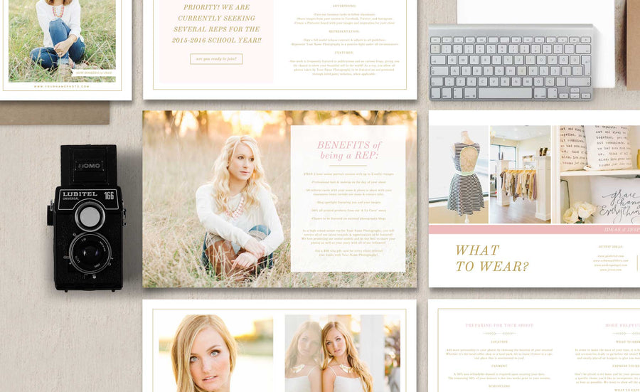Senior Photography Magazine Template - Senior Welcome Packet