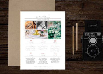 Wedding Photographer Timeline Template - Cambria