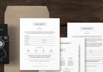Wedding Photographer Contract Template - Minimal