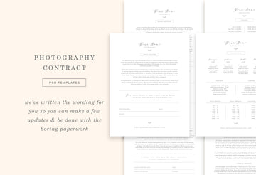 Wedding Photographer Contract Template - Aspen
