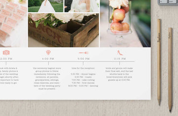 Wedding Day Timeline Template for Photographers - Cambria