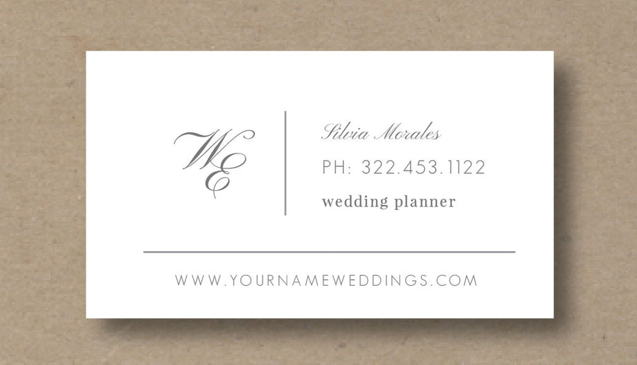 Business Card Template for Wedding Planners - Eucalyptus