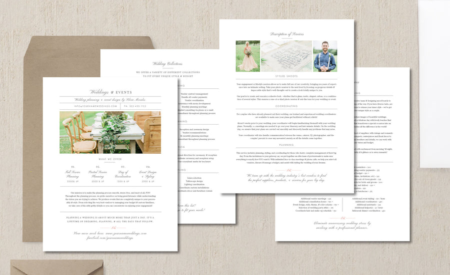 Wedding Planner Pricing Guide Template - Eucalyptus