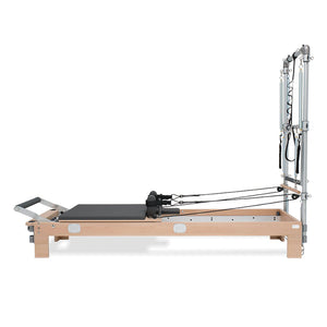 BASI SYSTEMS Wood Pilates Reformer with Half-Trapeze Tower - Pilates Reformers Direct