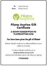 Pilates Anytime Gift Subscription - Pilates Reformers Direct