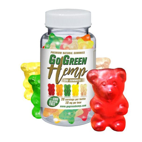GoGreen Hemp CBD 10mg Gummy Bears (200mg)