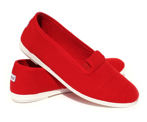 Women's Canvas Shoes - Red | KANDALS