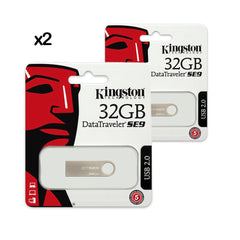 2X PENDRIVE USB DTSE9H METAL / 2.0 32GB KINGSTON