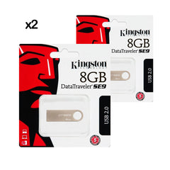 2X PENDRIVE USB DTSE9H METAL / 2.0 8GB KINGSTON