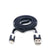 CABLE PLANO IPHONE 5/6. NEGRO. 1M