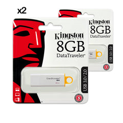 2X PENDRIVE USB KINGSTON 8GB DATA TRAVELER 3.0 I G4 DTIG4