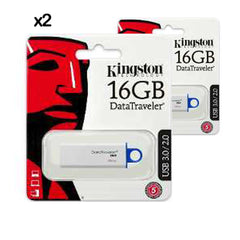 2X PENDRIVE USB KINGSTON 16GB DATA TRAVELER 3.0 I G4 DTIG4