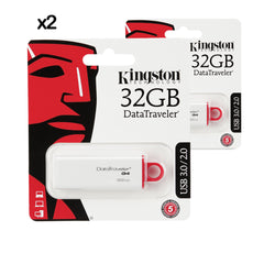 2X PENDRIVE USB KINGSTON 32GB DATA TRAVELER 3.0 I G4 DTIG4
