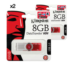 2x PENDRIVE USB KINGSTON 8GB DATA TRAVELER 2.0 DT101G2