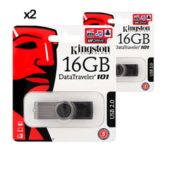 2x PENDRIVE USB KINGSTON 16GB DATA TRAVELER 2.0 DT101G2