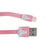 CABLE PLANO IPHONE 5/6. ROSA. 1M