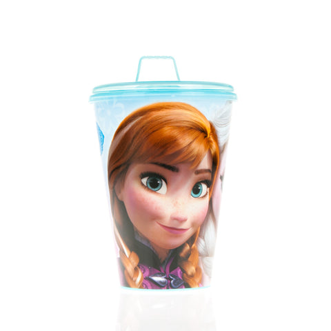 VASO VALUE PP 430 ML. CON SIPPER FROZEN TIMELESS