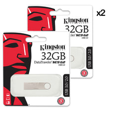 2X PENDRIVE USB KINGSTON METAL DTSE9G2 3.0 /32GB