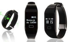 SMART BRACELET WITH HEART RATE AND APP NOTIFICATION FOR IOS AND ANDROID