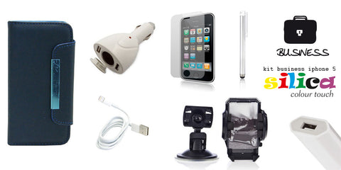 KIT BUSINESS SILICA IPHONE 5