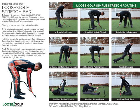 Loose  Golf stretching Chart
