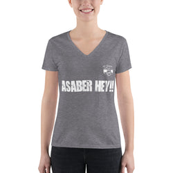 Asaber Hey!! V-Neck T-Shirt SV93411