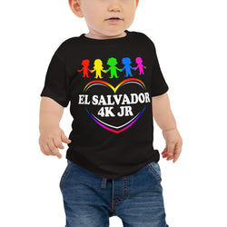 El Salvador 4K Jr Baby Jersey Short Sleeve Tee with Tear Away Label SV89918