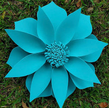 "Load image into Gallery viewer, 25"" Large Blue Foam Flower"
