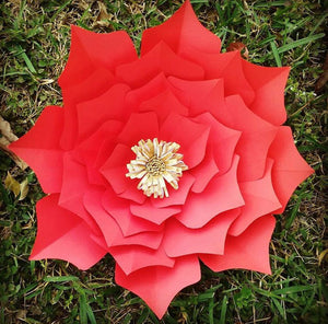 "25"" Large Red Paper Flower"