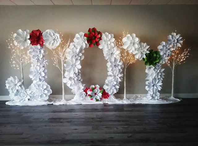 Paper Flower Letter Backdrop