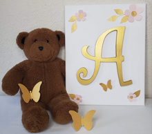 Load image into Gallery viewer, Nursery Wall Art - Gold Wood Letters